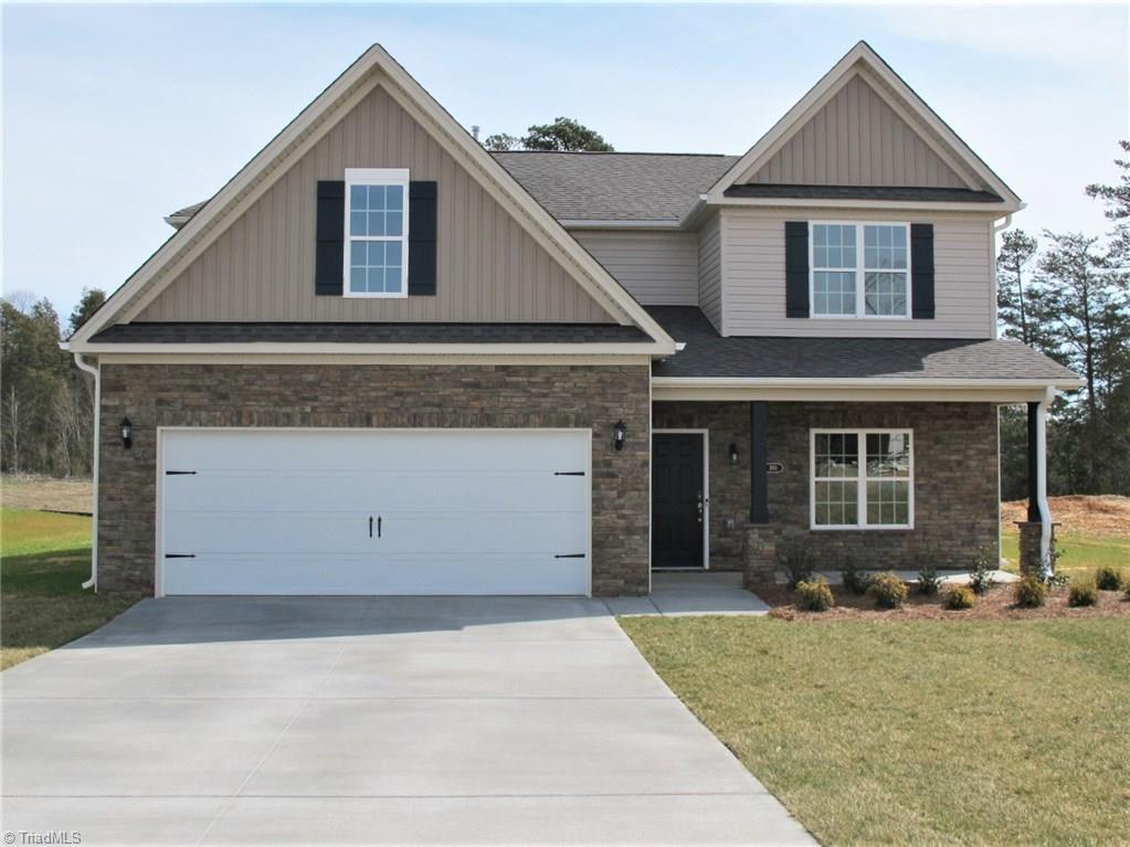 Gorgeous two-story home! Come see this awesome Emerald plan! Open floor plan, fireplace, loft, covered porch and radiant barrier roof sheathing. Stainless microwave, dishwasher and gas range. Tree-lined back yard. Convenient to Highway 150 and US 52. Call onsite agent for special incentives