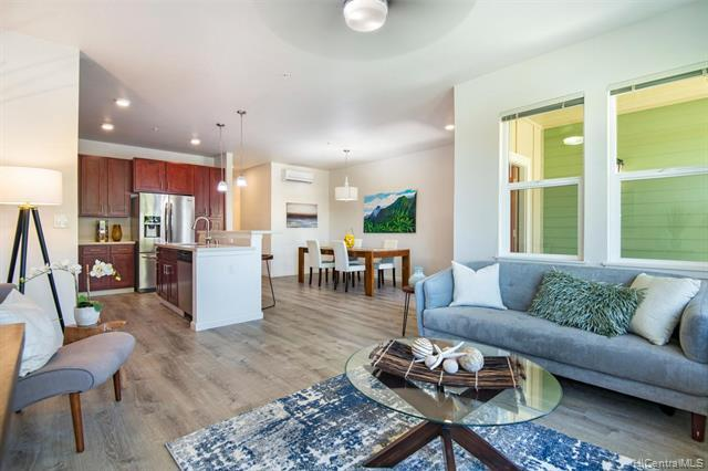 A well maintained & well designed 3BR/2.5BA spacious town home within the Pohakala at Mehana community. This town home offers an efficient floor, 2 walk-in closets, plenty of storage areas, ceilings fans, wall-mounted split ACs, vinyl wood plank floors throughout & more to appreciate. Pohakala at Mehana is a family friendly town home community with the nearby recreational center Mehana Activity Center featuring pool, BBQ, meeting rooms, a great place for family enjoyment. Also located in short distances to Kapolei downtown, shopping centers, golf courses, community parks, great school district, beaches and many more essentials within the Kapolei neighborhood. VA Approved Project. Maint. fee includes use of MAC center at Mehana, water, sewer