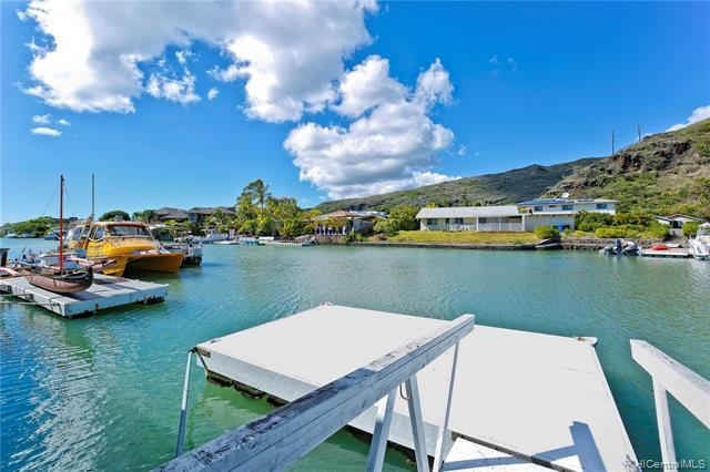 Marina front single level townhome in one of Hawaii Kai's sought after locations.  Partially remodel
