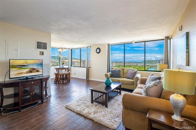 NEW PRICE! SHORT TERM / DAILY RENTALS ALLOWED! This great Waikiki vacation friendly condo-hotel 2BR/2BA Penthouse suite offers an incredible sweeping panoramic bird's view of the gorgeous lush mountain range, the brilliant colors of city lights, Ala Wai canal, golf course, Diamond Head, coastline and the pacific ocean. Upgraded condition & situated on the desirable corner end w/ an efficient and spacious floor plan. This high income producing vacation rental condo is sold fully furnished. Hawaiian Monarch is great & one of a few condo-hotel building located near the entrance of Waikiki, it features an opened air lobby w/ resort amenities such as pool, fitness center, outdoor seating deck, a convenient store, cafe, popular eateries & many mo