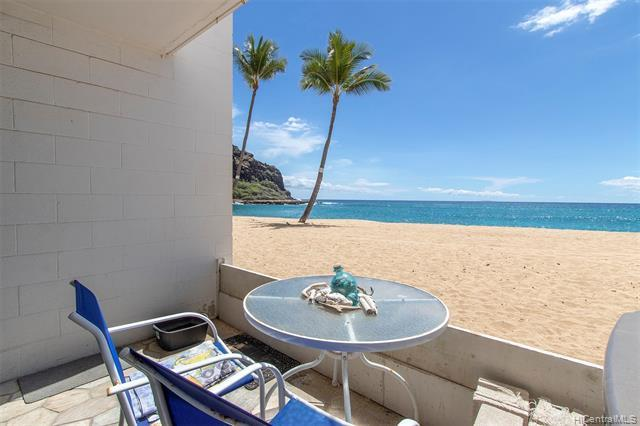 Oceanfront living at its finest! Imagine waking to the sounds of the ocean in your very own beachfront condo! Ground floor unit boasts direct access to the beach without having to catch an elevator & walk thru the building like the upper floors!