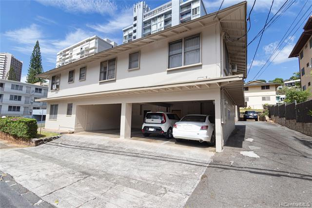 EXTREMELY RARE OPPORTUNITY to purchase a 7-unit apartment building on a prime 7,500-sqft, A-2 zoned lot in an unbeatable location in the heart of Makiki! Well-maintained, charming units - each with 1 bed/1 bath/1 parking. Freshly painted structure fronting Thurston Street has 4 units/4 covered parking stalls. Rear concrete structure has 3 units/3 open parking. Secured on-site laundry area. Most units have had renovations such as updated flooring, cabinets, counters. Separate electric meters. Being offered for the first time in decades, this property offers steady cash flow and tons of potential and possibilities! Amazing location near downtown, hospitals, freeway access, University of Hawaii, shopping and more! Do not disturb tenants or ent
