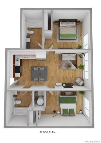 Better living starts here! 2br/2ba layout with two assigned parking stalls! Enjoy the easy clean LUX