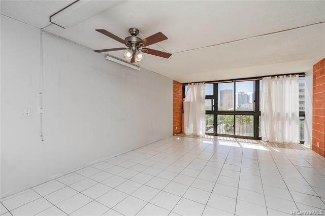 If you're looking for an affordable entry point into Honolulu's expensive real estate market, then do not miss this efficient condo located near the key areas of Kakaako and Downtown. Originally a 1 bedroom unit, it has been smartly converted to a 2 bedrooms with an enclosed lanai maximizing the interior square footage. With a nice city view, you'll be directly across from the Honolulu Museum of Art and steps from Thomas Square and the Blaisdell Center. Continue down Ward Avenue, and you'll be led to the heart of Kakaako with all of its excitement, shopping and entertainment. This cute little charmer is perfect for its location and affordability and is an excellent but for both the first time buyer and investor alike. Actual square footage