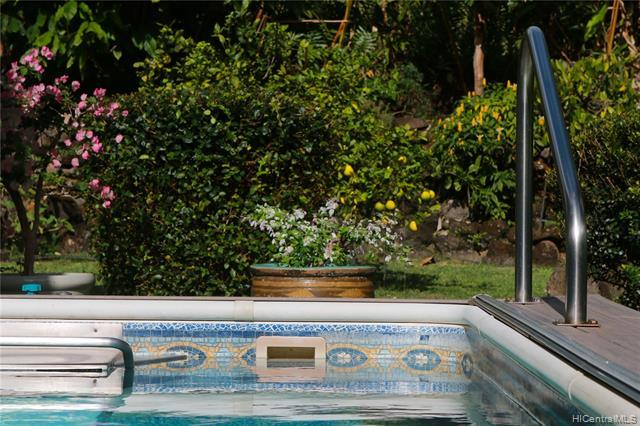 Solar heated Endless Exercise pool compliments the healthy lifestyle.