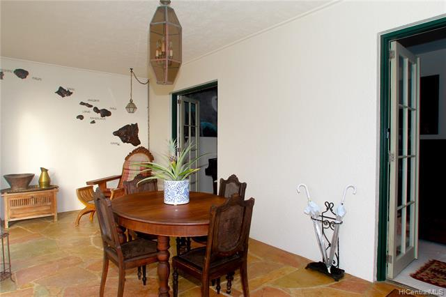 Wonderful covered, shaded and protected front lanai is a great place to entertain or relax.