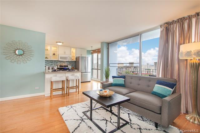 NEW LISTING!! Super convenient location in the heart of Makiki! Don't miss this rarely available, tastefully renovated and well maintained 2 bdrm/1 bath condo with 1 parking stall at Victoria Mansions. Features include an upgraded open kitchen with new stainless steel appliances, upgraded bathroom, built in closet organization systems and a washer/dryer in the unit. Just minutes from restaurants, shopping, bus lines and easy access to the freeway. Hurry, this won't last!