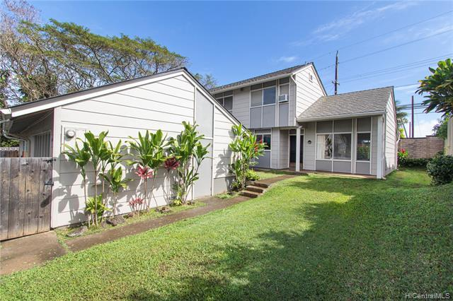 Welcome home! This spacious 3 bedroom 2 bathroom Townhouse feels like a Single Family Home with its vaulted ceilings, private enclosed yard, and two car garage. Alii Cluster Park is a rarely available and highly desirable complex located near Kaneohe Bay, Windward Mall, and Marine Corps Base Hawaii. This complex has low maintenance fees, but still includes a Pool, Clubhouse, and Mini-Park.