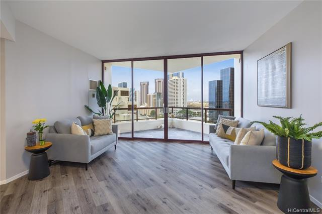 The Gem of Imperial Plaza! This 2-bed/2-bath corner unit features a wealth of upgrades including lif