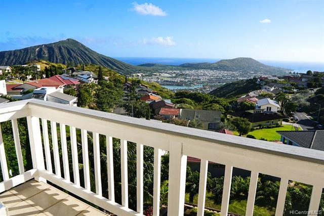 NEW LISTING!! Feels like a single-level home combined with SPECTACULAR panoramic, unobstructed, ocean, shoreline, marina, and Koko Head views!! Located in the highly coveted Mariner's Ridge, enter the main level of this nicely maintained 5 bdrm/3 bath home directly from the garage to 3 bdrm/2 baths, an open kitchen, large picture windows, and 2 lanais from which to enjoy the spectacular views. The lower level features 2 bdrm/1 bathroom with a wet bar, large outdoor deck, and a separate entry, perfect for extended family living. Other features include a beautifully custom landscaped back yard, vaulted ceilings, an owned PV system, lots of extra storage on the bottom level, and outdoor decks located on each level, perfectly suited for indoor/
