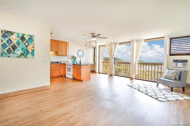 Not just another 2-bedroom in Makaha Valley Plantation. This perimeter location offers unobstructed, panoramic view of the beautiful Makaha coastline. This is a rare opportunity to grab a turnkey, move-in ready unit with ocean views at this price. Makaha Valley Plantations is a resort-like, pet-friendly community with many family-friendly amenities including two swimming pools, tennis court, and BBQ areas.