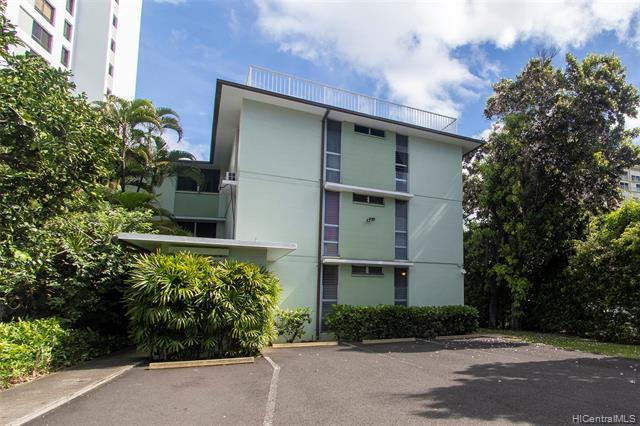 FANTASTIC OPPORTUNITY! If you were looking for the dream apartment building, here it is. 5 spacious units in a beautifully maintained all concrete apartment building just steps from Punahou School. Four 2 bdrm 1 bath units each with almost 800 sq ft of interior living space and one 4 bdrm 2 bath ground floor unit with almost 1600 sq ft of interior living space. Other features include 7 parking stalls, an interior staircase between floors and a super-convenient location near schools, bus lines, shopping, and so much more. The 4 bdrm ground floor unit has been recently upgraded with new paint and flooring. Conveniently located near schools, bus lines, and restaurants. This won't last!