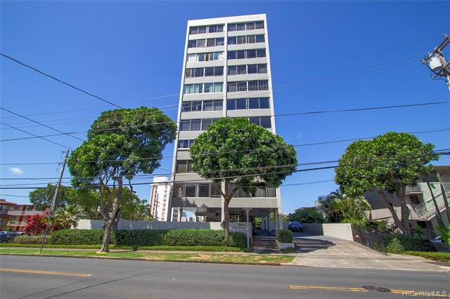 Great opportunity to own in this highly desirable boutique building located at the gateway to Manoa! The Anga Roa is a 10 story, 40 unit building with only 4 units per floor. This pet friendly, move in ready unit is on the quieter side of the building and looks out to green trees and a residential neighborhood. This adorable unit features newer windows (replaced in 2012 for $12k), custom black out curtains ($3k), Bosch washer/dryer, & a Toto toilet.  It also has great cross breezes, lots of natural light, secured parking, a renovated elevator & pool. Conveniently located within walking distance to Punahou School & a short drive into Manoa, Waikiki, & downtown Honolulu. Call today for a private showing! Please click on the video link for mor