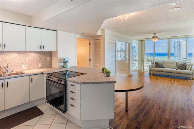 Enjoy breathtaking panoramic ocean/city views from this beautifully maintained, HIGH FLOOR, 2 bdrm/2 bath unit located at One Archer Lane.  This bright and airy unit features a nice open floorplan with floor to ceiling windows highlighting the stunning views.  Super-convenient location in Kakaako near restaurants, entertainment, and shopping.  A MUST SEE!
