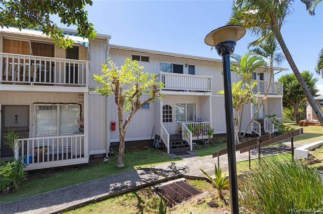 Centrally and conveniently located, Ridgeway is one of the most sought after complexes in Aiea.  This PET FRIENDLY, 3-bedroom and 1.5 bath townhome comes with 2 parking stalls that are located right in front of the unit.  It has over 1200 square feet of living space with a private front porch and private courtyard to enjoy your gorgeous golf course and sunset views w/no backyard neighbors!  Ridgeway is near Pearlridge Mall, restaurants, grocery stores, airport, Aloha Stadium, Fort Shafter and so much more!