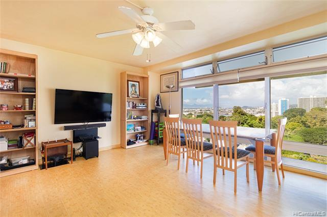New listing!! Don't miss this well maintained 1 bdrm/1 bath/1 cov'd parking HIGH FLOOR unit in the Prince Tower at Queen Emma Gardens, centrally located in Downtown Honolulu. This unit features an updated kitchen and bath, bamboo laminate floors, and beautiful city/mountain/sunset views. Enjoy the fantastic amenities including a swimming pool, BBQ area, landscaped walking/jogging paths, Japanese tea house, ample guest parking and more. Super convenient location, just minutes from Downtown Honolulu, Chinatown, restaurants, and shopping. A must see!