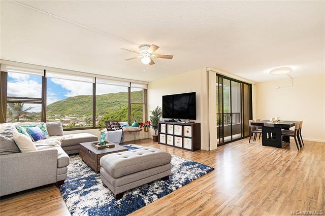NEW LISTING! Enjoy ocean, marina and mountain views from this beautifully maintained 2 bdrm/2 bath condo with 2 parking at the Heritage House in Hawaii Kai. With over 1,000 interior sq. ft., this unit features vinyl plank flooring, a spacious open floor plan, an updated kitchen w/ granite counter tops and stainless-steel appliances, and extra storage. Conveniently located just minutes from parks, beaches, shopping and entertainment. Don't miss this opportunity!
