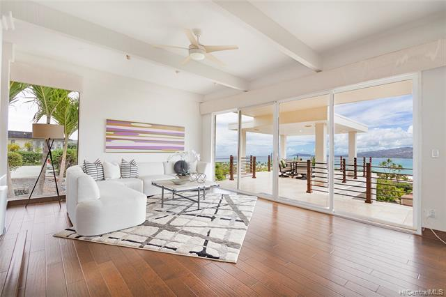 Enjoy stunning panoramic ocean, Maunalua Bay, mountain & Diamond Head views from this beautifully maintained 3bd/3.5ba resort-style residence in the highly coveted Koko Kai/Portlock neighborhood! This home offers 3,600 sq ft of interior living space that lives like a single level home on an over 13,000 sq ft lot. Other features include an expansive open floor plan, fresh interior paint, renovated en-suite bathrooms for each spacious bedroom, an expansive lanai overlooking Maunalua Bay perfect for indoor/outdoor entertaining, and an indoor swimming pool! Conveniently located just minutes from beaches, parks, Koko Marina Center with shopping and restaurants! Don't miss this amazing opportunity!