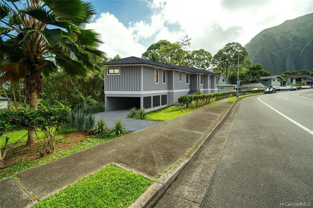 This is an AMAZING and UNIQUE Opportunity to buy the only Vacant Lot on Hui Iwa St. Located in a fantastic family neighborhood, right before you turn up into Ahuimanu Hills, below the gorgeous Koolau Mountains.  Property is part of a 3 unit CPR. Seller's plans to build changed. Seller currently has sewer approval and building plans that have not been approved for permit yet. Click on Supplements for Plans, Condo Map and CPR Docs. Buyer to do their own due diligence on the build-ability of the lot. Seller Please do not walk on property without making an appointment. Line in photos are for illustrative purposes only and should not be construed as actual property line.  Vacant lot renderings are conceptual for representational purposes only an