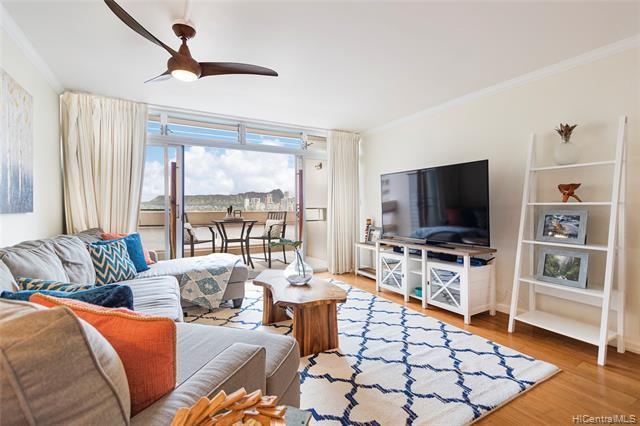 NEW LISTING!!! Rarely available 2 bdrm/2.5 bath unit with 2 SIDE-BY-SIDE PARKING STALLS at Ala Wai Plaza! Enjoy beautiful Diamond Head and city views from this tastefully upgraded and well-maintained unit. With over 1,100 interior sq. ft., this unit features fresh interior paint, a renovated kitchen with stainless-steel appliances, upgraded bathrooms, and 2 side by side parking! Amenities include swimming pool, fitness center, security and more! Conveniently located near UH Manoa, Waikiki, shopping, and restaurants. Don't miss this fantastic opportunity!