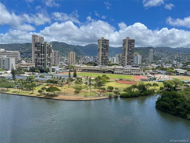 City & mountain view