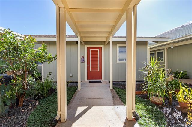 GROUND FLOOR UNIT in SINGLE-STORY building (no neighbors above) in wonderful senior living community! Unit features spacious layout w/enclosed lanai for additional living area, separate storage closet (15G), Washer/Dryer inside unit and TWO assigned, parking stalls right at the front of the building! Nice courtyard area to relax in immediately outside your unit, along with paved walkways and benches to relax at throughout, community garden area, fitness room, ohana room, library, kokua center and large recreation area/rooms!  Community is conveniently located near Gateway at Mililani Mauka (w/Longs, Starbucks, eateries) and easy freeway access. Occupants must be 55 years or older with no restrictions on ownership. Monthly tax amount is base