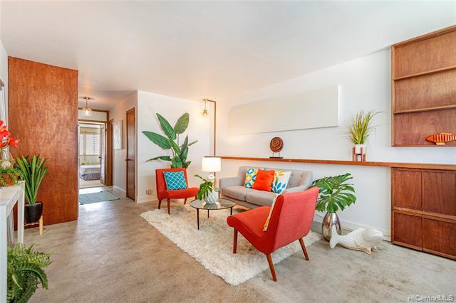 Wonderful unit by owner/architect in the Mid-century minimalist style. Simple clean lines w/concrete floors. Definitely a conversation piece.  A few interesting unique features. Kalia is a LH Coop w/resort like amenities & grounds. You own Stock in the Assoc. as a whole w/exclusive usage of a specific unit. Coop approval & closing is a min. 45 day. Ownership paperwork processing is very different from std RE transaction. Monthly & paid to the assoc. are: $511.51 (maint) + $546.98 {lease rent • w/step ups every 5 yrs til exp. in 2048) + $59.04 (Ptax • subject to change annually based on assessed value by City)+ $47.12 (cable tv). AC's are $100 per addtl p/mo. Parking avail through Kalia from $125 p/mo.