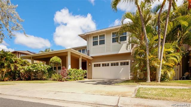 Golf course frontage!! Available August 12, 2021.  Text today Charis K. Panoke RS-79086, 808-625-8915 for showing.  Ewa by Gentry-Haleakea executive style Single Family home overlooking the Hawaii Prince Golf Course.  4 bedrooms, 3 bath features include Guest room and full bath on the first floor, central AC, stainless appliances, large kitchen counter, and a second-floor bonus room area that can be used as an office or family room.  Both floors have beautiful views of the golf course to enjoy daily.  Easy to show with 8 hour notice.