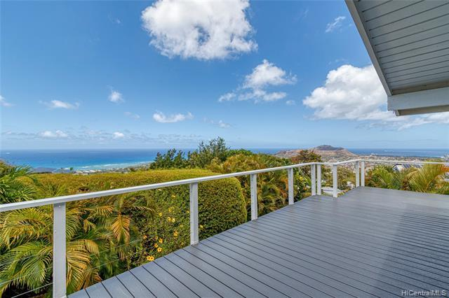 Cool Breezes and Breath-Taking Panoramic Views from this Beautifully Remodeled Waialae Nui Ridge home. Open layout with vaulted ceilings. 3 bedroom, 2 bath single-level living on the upper level. 2 rooms, 1 bath downstairs with a living room, wet-bar, and separate entrance. An absolute must-see for any ocean-view buyer! (Tax office records differ from actual square footage)(one or more photos have been enhanced)