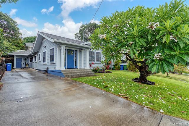 Come see this beautifully renovated and tastefully upgraded 3 bdrm/2 bath home in this much sought after lower Manoa neighborhood. This pristine SINGLE LEVEL residence is privately tucked away in a quiet street and was completely remodeled in 2018 w/ engineered hardwood floors, a large master suite with French doors that open up to a serene back area and beautiful quartzite countertops in the kitchen with stainless steel appliances.  The classic charm of Manoa coupled with stunning modern updates make this home a must see! IDEAL LOCATION close to beaches, restaurants, shopping, and walking distance to some of Oahu's best schools.  Don't miss this fantastic opportunity! Please do not walk on property without an appointment and do not disturb