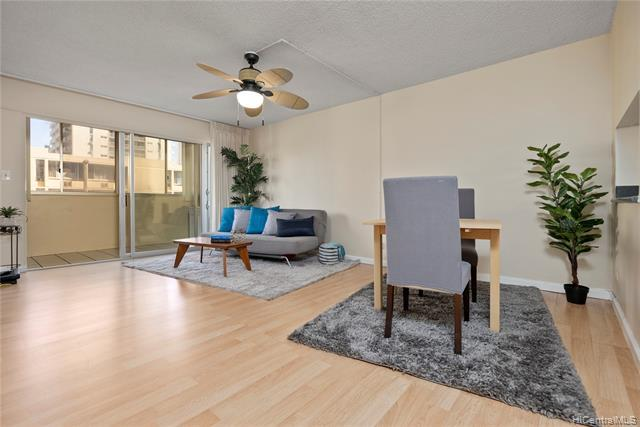 Awesome investment opportunity! Unique layout features 2 possible units, live in one and rent the other, 802/802A! This 2 bedroom/2 bathroom/1 covered parking stall can be separated by locking the interior door between units. There are two separate entrances & two mailboxes making it open to possibilities. Clean & move in ready with wood laminate floors, updated counters & vanities, washer/dryer, nice storage space, enclosed lanai, lots of natural light & great cross breezes. Convenient location within walking distance of Waikiki beach, shops, restaurants, the library, & the zoo. Other fee includes cable & internet. Up to 2 pets allowed. 30 day minimum rental. Great on site manager, keyed elevator, video security, & pool. *Fee has been offe