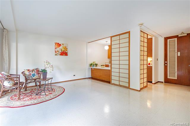 NEW LISTING! Affordable, convenient 1 bed / 1 bath / 1 parking in downtown Honolulu! This low-floor unit in the Prince Tower at Queen Emma Gardens is a great opportunity for a first-time buyer or investor. Looks out to the lush foliage and expansive grounds totaling 8 acres. Designed by architect Minoru Yamasaki, Queen Emma Gardens features 3 towers, landscaped walking paths, swimming pool, Japanese tea houses and koi ponds - creating a peaceful sanctuary in the bustling city. 24-hour security, pet friendly, VA approved, lots of guest parking and more! Near Chinatown, restaurants, shops, markets. Don't miss this one!