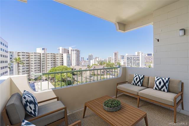 A RARE find!! Nestled in the heart of Makiki, this pet-friendly penthouse features an unheard of 2300 sqft interior, 2 large patios adding 630 sqft, 9' high ceilings, and an upgraded kitchen with gas stove! Equivalent to 3 two-bedrooms apartments!  Enjoy panoramic views and cool mountain breezes with a Single family home feel without the stress of single family maintenance. Electricity, gas, sewer, and hot water included in the maintenance fee. Short distance to Punahou, Mid-Pac and Maryknoll schools, shopping, restaurants, major medical centers and hospitals. Building improvements have been completed including plumbing!  Please see supplements for a complete list of upgrades & floorplan. This is a MUST one-of-a-kind!  A MUST SEE! One or mo