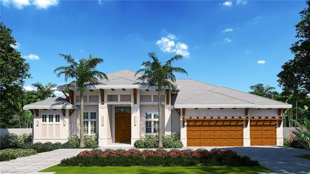 New custom home in the Moorings close to beaches and golf, is luxury at its finest.  Thoughtfully de
