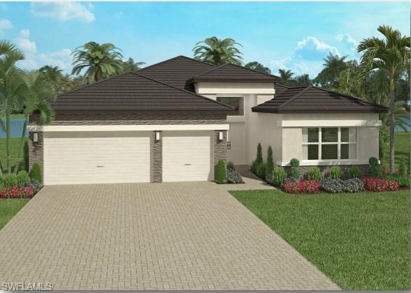 """H.16428 - This New construction """"Sunrise"""" floor-plan model home has 3 bedrooms plus a den, 3 baths and 3 car garage. This home offers a spacious kitchen with quartz counter tops and stainless steel appliances. Features include tile throughout with carpet in the bedrooms! Master bath with shower and Roman tub. All prices are subject to increase without notice. Valencia Trails— a new standard of 55 plus living on Florida's beautiful Gulf Coast. Offering an exciting vacation-inspired lifestyle that rivals the finest resorts, Valencia Trails features an opulent 42,000 sq. ft. clubhouse. Valencia Bonita offers a resort lifestyle that caters to 55 plus residents looking to socialize and stay physically active. The Clubhouse and Lifestyle Complex serves as the hub of the community and offers hundreds of exciting events. Please note: the photos are the Sunrise Model, not the actual home."""