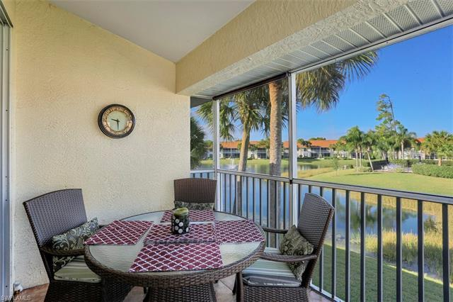C.17144 - Desirable location for this 2nd floor unit with lake & fountain views located in the North Naples development of Carlton Lakes.  Enjoy a spacious and private end unit that features 2 full bedrooms plus an additional den space to be used as an office, or additional living room.  You'll appreciate the vaulted ceilings, open concept floor plan that is great for entertaining, as well as gorgeous wood flooring throughout the main living area and stairs and two balconies for your outdoor enjoyment.  The unit's location only gets better being steps to the local pool, directly across from the gate access that leads to Publix & a short walk to the new Oaks Farms grocery store that also offers a coffee bar, wine bars, various food & dining options and live music on weekends.  Carlton Lakes features walking & jogging paths, bocce & tennis courts, a master club house with a 60 ft lap pool, hot tub and a fishing pier.  Take advantage of multiple beach options with a short trip to Vanderbilt Beach, Delnor Wiggins State Park or Barefoot Beach. This furnished unit is also sold with 1 year home warranty at closing. Just bring your suitcase and start enjoying the Naples lifestyle.