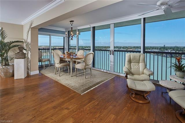 Rarely available 2BR + Den/3BR bay-front condo in the popular Windemere building on Gulf Shore Blvd