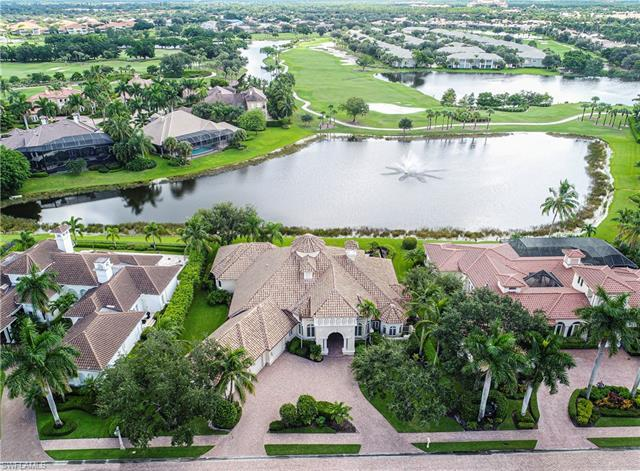 Elegant custom estate home with captivating lake and golf course views in exclusive Bay Laurel Estat