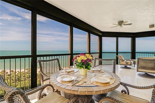 C.17219 - Fabulous end-unit overlooking endless views of the Gulf of Mexico. Live the maintenance-free high-rise lifestyle in prestigious Biltmore at Bay Colony. Just steps to the white sandy beaches. Southwestern exposure fills this lovely condo with a natural glow throughout.  Take in the morning sunrises from the eastern screened-in lanai and mesmerizing sunsets of the beach in the evenings. Enjoy a fully renovated kitchen, built-in oven and microwave, quartz counter tops, center island with glass cook top and trey ceilings and crown molding throughout.  The peaceful master suite features a picturesque window showcasing beach views, two walk-in closets, wood flooring and remodeled master bath. Two guest en-suites bedrooms with private baths offering a shared screened-in lanai. Bar offers wine cooler to store your favorite wines and refrigerator.  Biltmore residents enjoy a beachfront resort style pool, fitness room, social room, and concierge service. The Bay Colony Beach Club offers casual and fine dining and first class club and beach service.  Experience an exceptional lifestyle in beautiful Biltmore at Bay Colony.