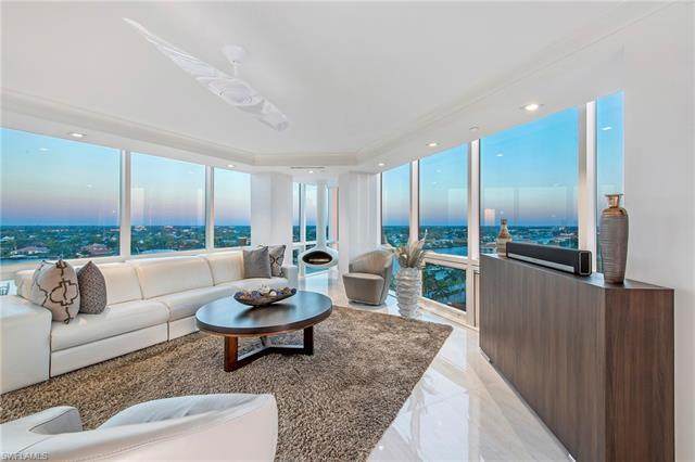 C.16030 - A true one of a kind. 2BR/2BA Unit was completely remodeled. A totally modern residence in the prestigious Park Shore. From the moment you walk in you know you are in something special. You can hear the Gulf from your living room. The commissioned works of art add to its uniqueness. And yes that is a floating fireplace. The custom closet doors and Italian Porcelain floors exude craftsmanship.  This residence is amazing. The 12th floor view gives you a perfect panoramic view . You still see details in the skyline and the beach. Not to high and not to low. You have a full view of the Gulf of Mexico, Venetian Bay and all of Naples. Views from every room. Unobstructed balcony view. The TV's are built into a custom cabinet that hides them when not in use. Want to go out and enjoy Naples? Minutes from dining, shopping and fun. Venetian Village, 5th Ave, Waterside Shops and Mercato. Want nature? Clam Pass Park is minutes away. This location gives you the ability to walk/bike to most places. Beach? You are steps away. Amenities include sundeck, party deck, pool, hot tub, exercise room, social room, library and  built in grilles.