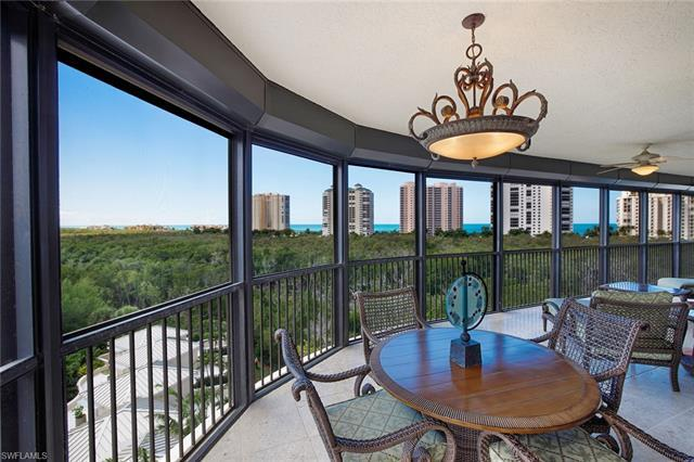Enjoy expansive views of Clam Pass and the Gulf of Mexico from this Salerno at Bay Colony masterpiec