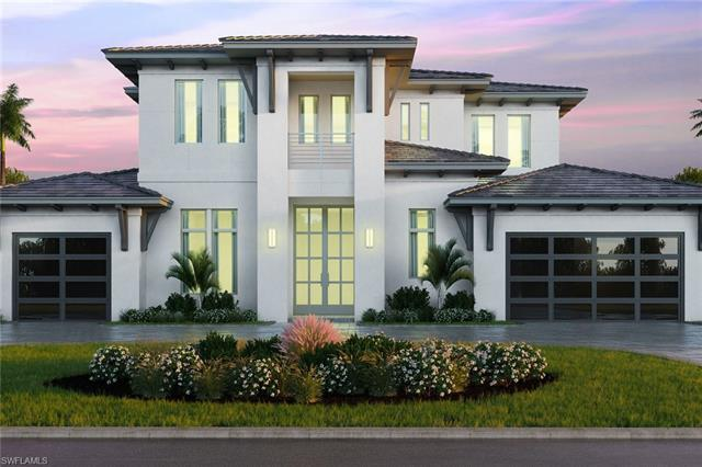 New construction in prestigious Moorings with western exposure. Enjoy panoramic sunsets and a glimps