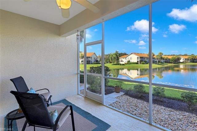 C.17825 - Serene lake view from lanai with stunning Florida sunsets over the lake to be enjoyed with your favorite beverage in hand. This first floor condo is neutral in decor with light cabinetry to give you that perfect Florida feel. The breakfast room is welcoming and the formal dining is combined with the living room for maximum seating when needed! Master bedroom is spacious and the master bath offer dual sinks and a large walk in shower.  The split bedroom design is perfect for guests and offers another full bath. Simply steps to the local resident pool at Lakeview or enjoy the larger community pool for Carlton Lakes, either way, you will meet new friends and enjoy the social activities that Carlton Lakes has to offer. Acres of preserves throughout the community are the perfect backdrop for the extensive walking/jogging paths. Ideally located with easy access to The Strand shopping plaza and walking distance to Seed To Table where you can enjoy grocery shopping, wine tasting, live music and more! A short drive to the sandy beaches of the Gulf.