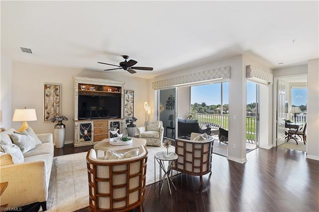 - Enjoy expansive water & golf course views & desirable Southern exposure from this tastefully updat