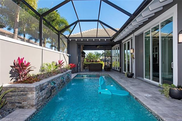 The Plumeria floor plan features 3 bedrooms, den, 3 Full Baths, 1 Half-Bath and Cabana; pool, spa; s