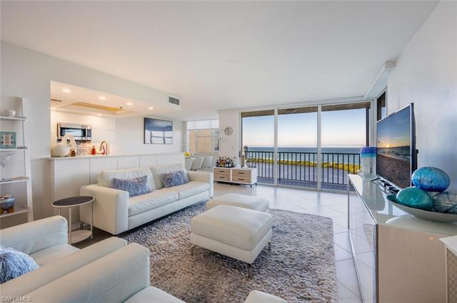 This stunning, first time to market, 19th floor condo boasts one of the premier views in all of Napl