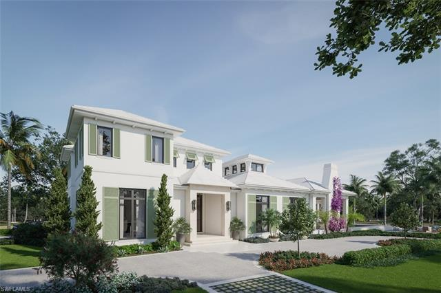 New construction timeless British West Indies inspired home with premium Olde Naples location 3 bloc