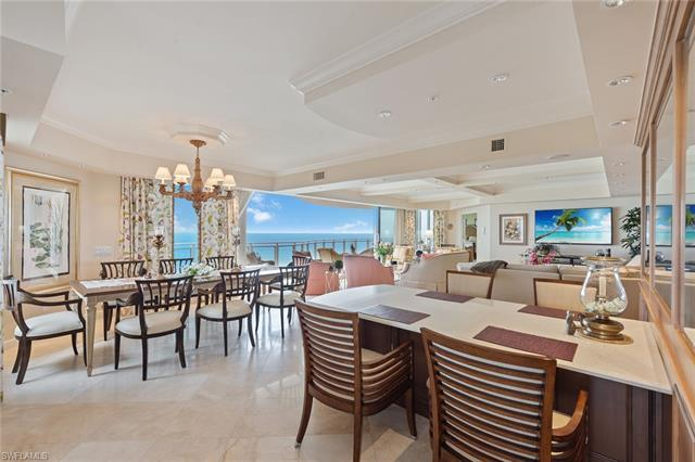Gorgeous Gulf and beach views. Rarely available, higher-floor end unit directly on the beach in the