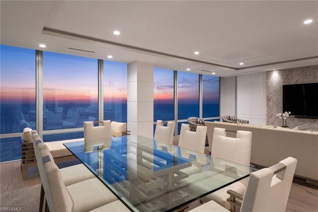 Gulf views and clean lines are the inspiration for this paradise in the sky penthouse in Le Parc. Cu