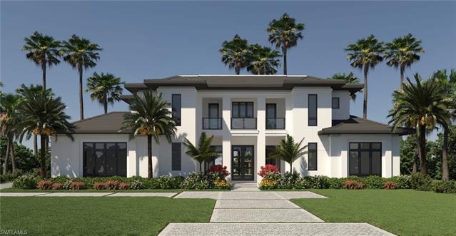 Located in Old Naples on a Southern exposure oversized 100x150 lot just blocks to the Gulf of Mexico